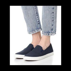 Sperry Seaside Perforated Sneaker in Black